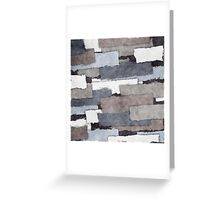 Textured Gray Layers Greeting Card