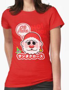 Super Kawaii Santa Claus Womens Fitted T-Shirt