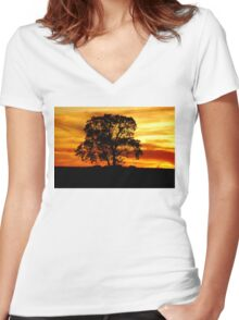 Lone Tree Women's Fitted V-Neck T-Shirt