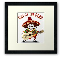 Day of the Dead Mexican Musician Framed Print