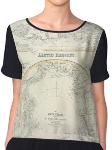 Map Of The Arctic 1856 Chiffon Top