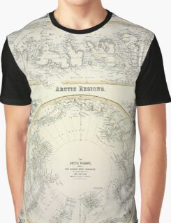 Map Of The Arctic 1856 Graphic T-Shirt