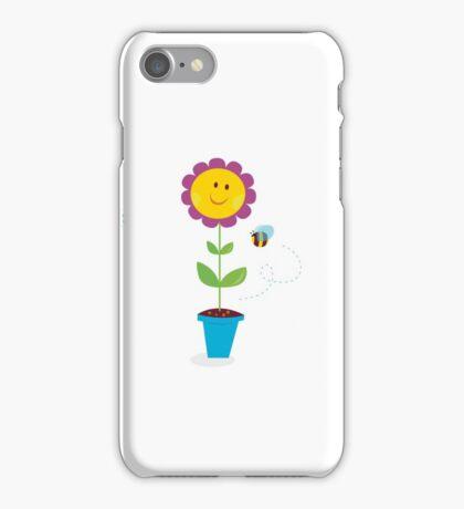 Spring garden flowers - tulip, sunflower and daisy iPhone Case/Skin