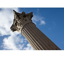 The Grandeur of Pompeii - a Corinthian Capital Column in the Sky Photographic Print