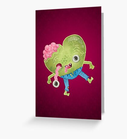 Zombie Heart Greeting Card