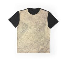 Map Of Montreal 1875 Graphic T-Shirt