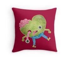 Zombie Heart Throw Pillow