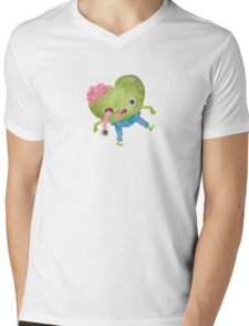 Zombie Heart Mens V-Neck T-Shirt