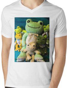 pickles frog family Mens V-Neck T-Shirt