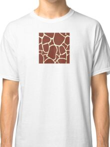 Giraffe seamless pattern texture. Giraffe background animal skin Classic T-Shirt