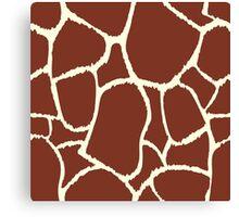Giraffe seamless pattern texture. Giraffe background animal skin Canvas Print
