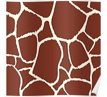 Giraffe seamless pattern texture. Giraffe background animal skin Poster