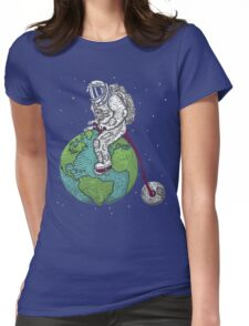 Space Man Womens Fitted T-Shirt