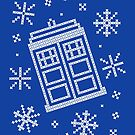 Police Box Christmas Sweater + Card by rydiachacha