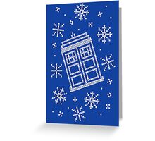 Police Box Christmas Sweater + Card Greeting Card