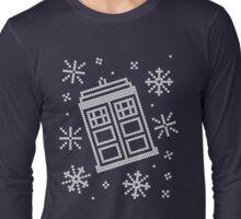 Police Box Christmas Sweater + Card Long Sleeve T-Shirt