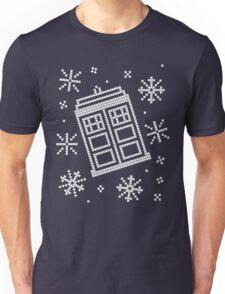 Police Box Christmas Sweater + Card Unisex T-Shirt