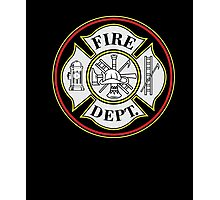 Fire Department Firefighters Badge T-shirt Photographic Print