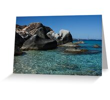 Sunny Caribbean Beach - The Baths on Virgin Gorda, British Virgin Islands, BVI Greeting Card
