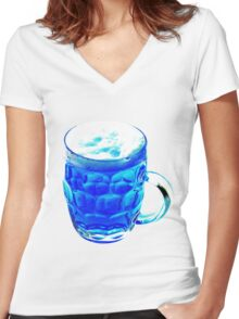Blue Beer Women's Fitted V-Neck T-Shirt