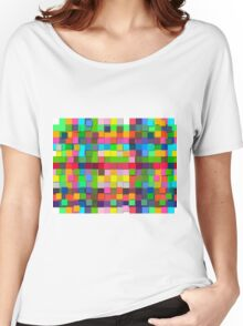 Colorful vector sticky notes Women's Relaxed Fit T-Shirt