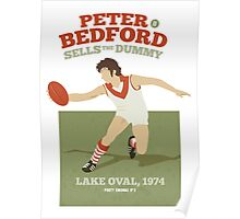 Peter Bedford, South Melbourne - white shirts Poster