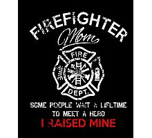 Firefighter Mom T-Shirt Photographic Print