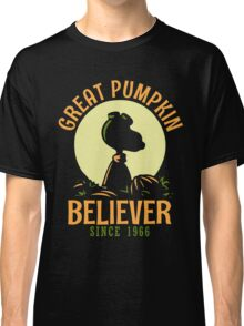 Great Pumpkin Believer, Funny Halloween Custom For Men And Women Classic T-Shirt