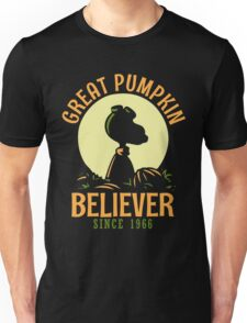 Great Pumpkin Believer, Funny Halloween Custom For Men And Women Unisex T-Shirt