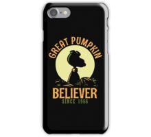Great Pumpkin Believer, Funny Halloween Custom For Men And Women iPhone Case/Skin