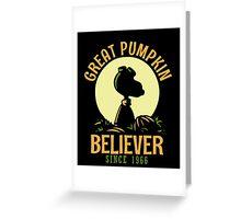 Great Pumpkin Believer, Funny Halloween Custom For Men And Women Greeting Card