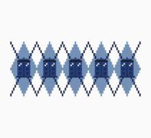 Argyle Police Box Pixels Kids Clothes