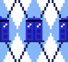 Argyle Police Box Pixels Sticker