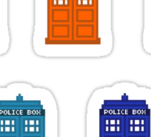 Rainbow Police Box Separate Stickers Set Sticker