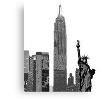 Big Apple Graphic Canvas Print