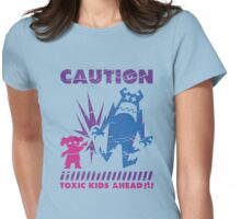 Caution...Kids!!! Womens Fitted T-Shirt