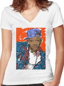 90s Style Fresh Prince  Women's Fitted V-Neck T-Shirt