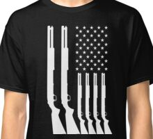 US American Flag HUNTING GUNS Classic T-Shirt