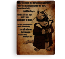 Bane's Cat Rises! Canvas Print