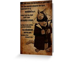Bane's Cat Rises! Greeting Card