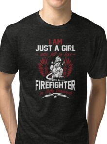 Firefighter T-Shirt - I Fell In Love With A Firefighter Tri-blend T-Shirt
