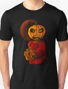 Evil pumpkin head Halloween monster Unisex T-Shirt