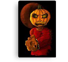 Evil pumpkin head Halloween monster Canvas Print