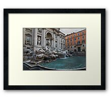 Rome's Fabulous Fountains - Trevi Fountain, No Tourists Framed Print