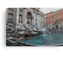 Rome's Fabulous Fountains - Trevi Fountain, No Tourists Metal Print