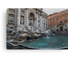 Rome's Fabulous Fountains - Trevi Fountain, No Tourists Canvas Print