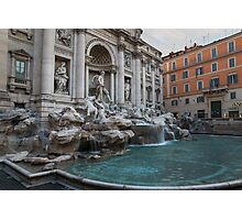 Rome's Fabulous Fountains - Trevi Fountain, No Tourists Photographic Print
