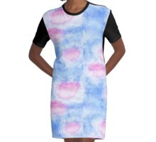Sky Graphic T-Shirt Dress
