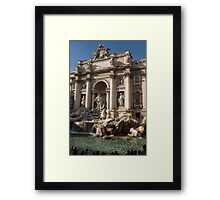 Toss a Coin to Return - Trevi Fountain, Rome, Italy Framed Print