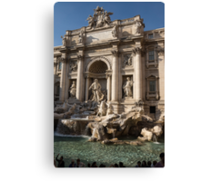 Toss a Coin to Return - Trevi Fountain, Rome, Italy Canvas Print